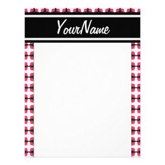 Personalized Pink and Black Stylish Classy Pattern Personalized Letterhead