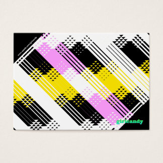 Personalized pink and yellow Note Business Card