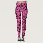 "Personalized pink animal print leggings<br><div class=""desc"">Trendy leopard spots print&gt; Edit background color</div>"