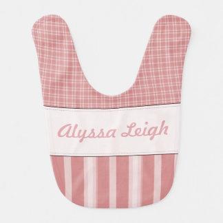 Personalized Pink Baby Bib