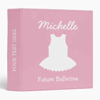 Personalized pink baby binder with ballerina tutu