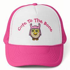 Personalized Pink Baby Owl Cartoon Trucker Hat
