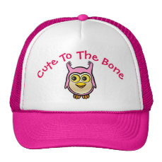 Personalized Pink Baby Owl Cartoon Trucker Hat