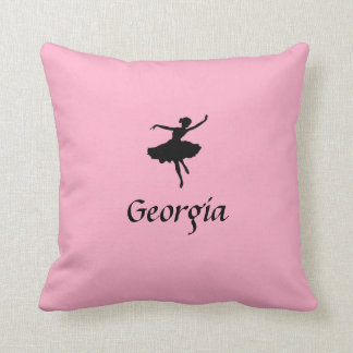 Personalized Pink Ballet Pillow