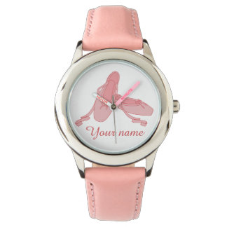 Personalized Pink Ballet Slippers Ballerina Watch