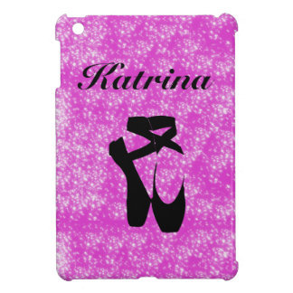 Personalized Pink Ballet with Glitter Effect iPad Mini Cover