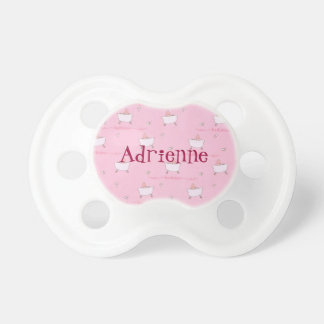Personalized Pink Bathtime Baby Pacifier Custom BooginHead Pacifier