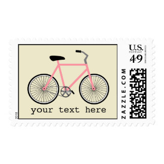 Personalized Pink  Bicycle Postage