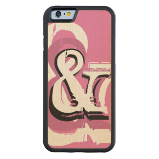 Personalized Pink Big Ampersand Symbol or Monogram Carved Maple iPhone 6 Bumper Case