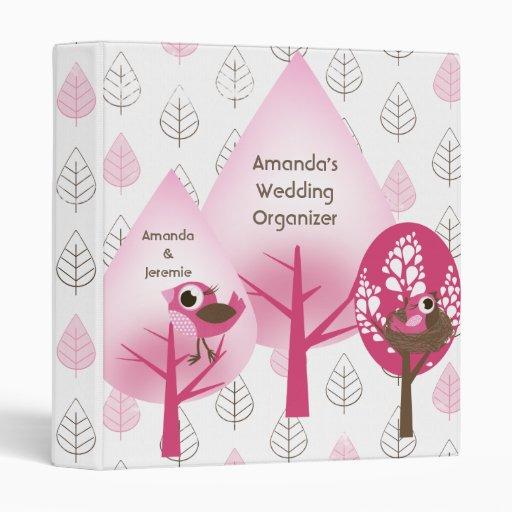 Personalized Pink Birds Organizer/Binder