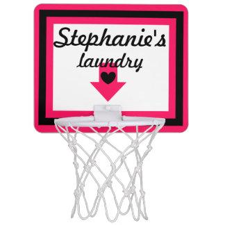 37 pink mini basketball hoops zazzle - Laundry basket basketball hoop ...