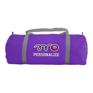 Personalized pink bowling bag with name for women