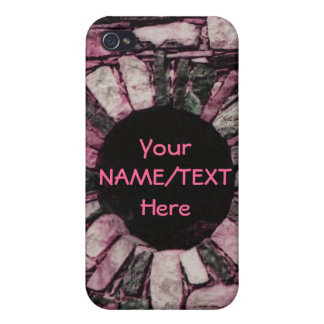 Personalized Pink Brick iPhone 4 Case
