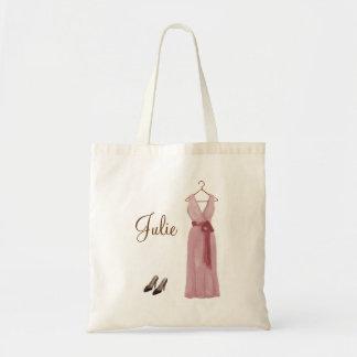 Personalized Pink Bridesmaid Tote Tote Bag