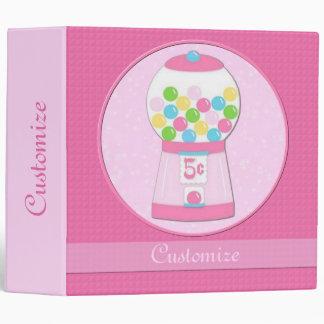 Personalized Pink Bubblegum Machine Binder