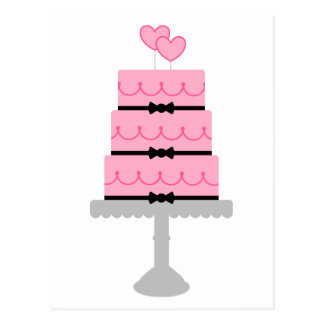 Personalized Pink Cake Postcard