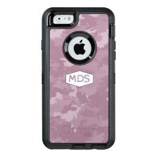 Personalized Pink Camo Monogram OtterBox OtterBox Defender iPhone Case