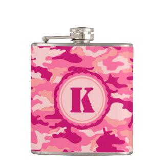Personalized Pink Camo Pattern Flask