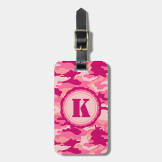 Personalized Pink Camo Pattern Luggage Tags
