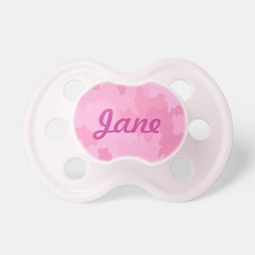 Personalized Pink Camouflage Pacifier