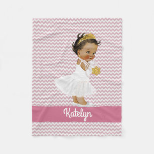 African american baby girl gifts on zazzle personalized pink chevrons ethnic princess nursery fleece blanket negle Choice Image