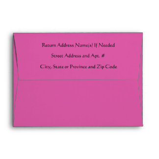 Personalized Pink Colored Solid Background Envelope