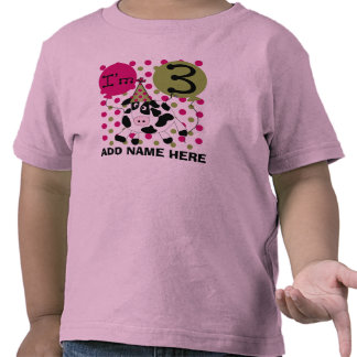 Personalized Pink Cow 3rd Birthday Tshirt