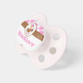 Personalized Pink Cowgirl Baby Pacifier Western
