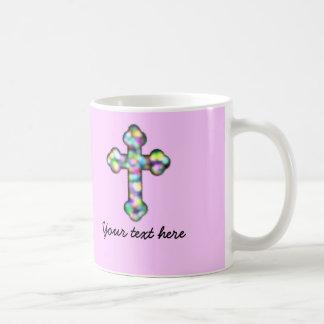 Personalized Pink Cross Coffee Mug