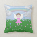 Personalized Pink Fairy Kids Pillow