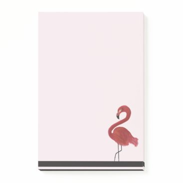 Beach Themed Personalized Pink Flamingo Art Post-it Notes