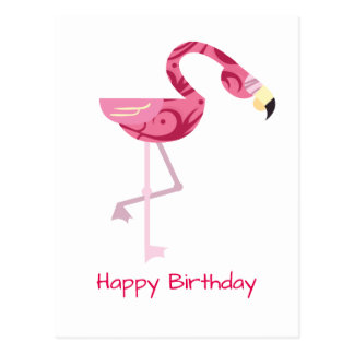 Personalized Pink Flamingo Bird Postcard