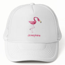 Personalized Pink Flamingo Bird Trucker Hat