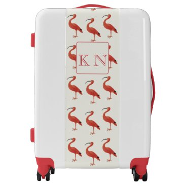 Beach Themed Personalized Pink Flamingo - Fine Art Luggage