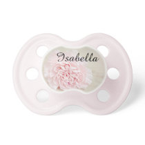 Personalized Pink Floral Baby Pacifier with Name