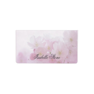 Personalized Pink Floral Checkbook Cover