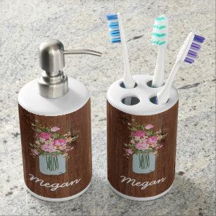 Mason Jar Bathroom Accessories Zazzle