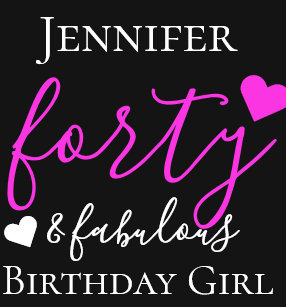 Personalized Pink Forty Fabulous 40th Birthday T Shirt