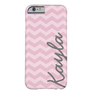 Personalized Pink Girly Chevron Pattern Barely There iPhone 6 Case
