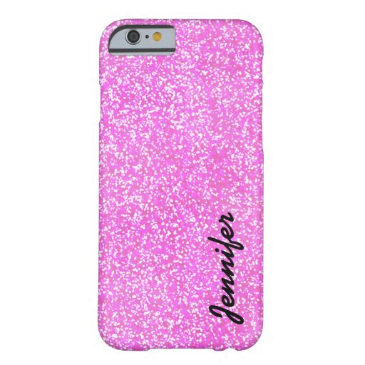 PERSONALIZED Pink GIRLY GLITTER CASE WITH NAME