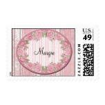 Personalized Pink Girly Postage Stamps