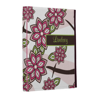 Personalized Pink Green Cherry Apple Blossom iPad Cases