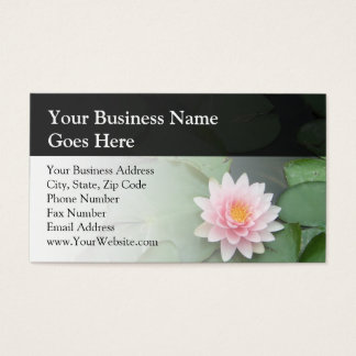 Personalized Pink/Green Lily Pad Business Card