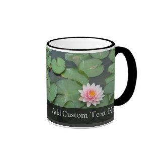 Personalized Pink/Green Lily Pad Mugs