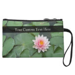 Personalized Pink/Green Lily Pad Wristlet Purse