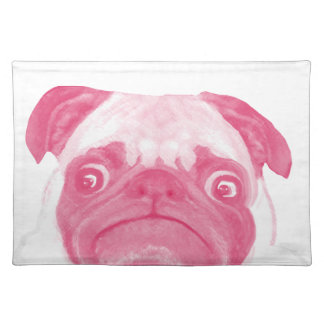 Personalized PINK Grumpy Puggy Cloth Placemat