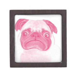 Personalized PINK Grumpy Puggy Gift Box