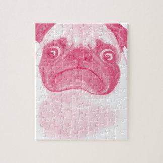 Personalized PINK Grumpy Puggy Jigsaw Puzzle