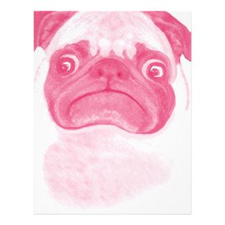 Personalized PINK Grumpy Puggy Letterhead
