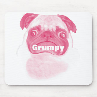 Personalized PINK Grumpy Puggy Mouse Pad